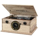 4-In-1 Cambridge Farmhouse Bluetooth Turntable with FM Radio