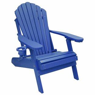 Haines Poly Lumber Plastic Folding Adirondack Chair