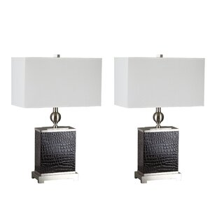 Textured Faux Crocodile Base 27 Table Lamp (Set of 2)