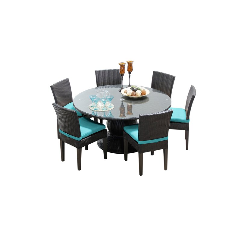 Stratford 7 Piece Dining Set with Cushions
