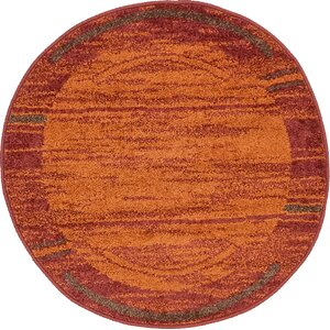Bryan Stain-resistant Terracotta Tibetan Area Rug