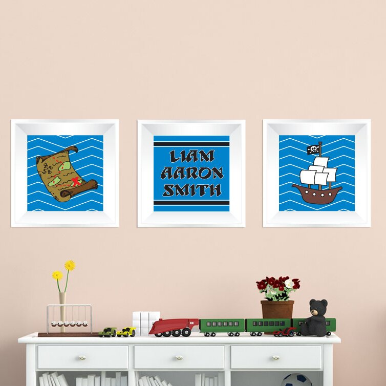 Mona Melisa Designs 3 Piece Pirate Picture Frame Wall Decal Wayfair