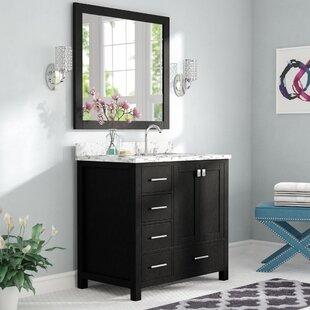 Raishon 36 Single Bathroom Vanity Set with White Marble Top and Mirror by Willa Arlo Interiors