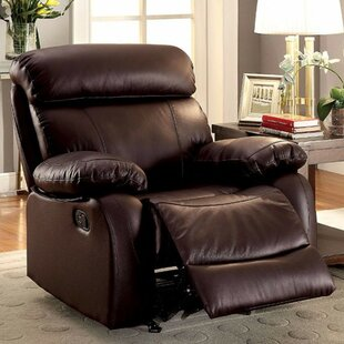 House-Hay Leatherette Manual Glider Recliner By Red Barrel Studio
