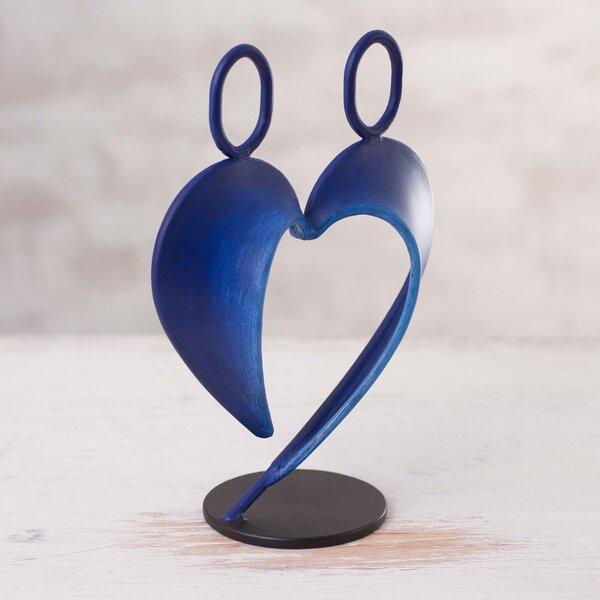 World Menagerie Garry Their Heart In Steel Sculpture Wayfair