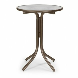 Telescope Casual Glass Top Round Bar Table