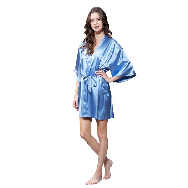 White Little Birdies Patterned Robe dressing gown Kimono Style getting ready robe wedding favors bridal shower gift