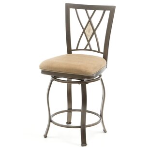 Boundary Bay 24 Swivel Bar Stool Red Barrel Studio