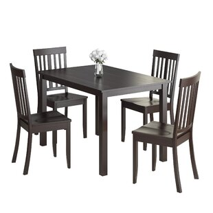 Dunster 5 Piece Dining Set DarHome Co