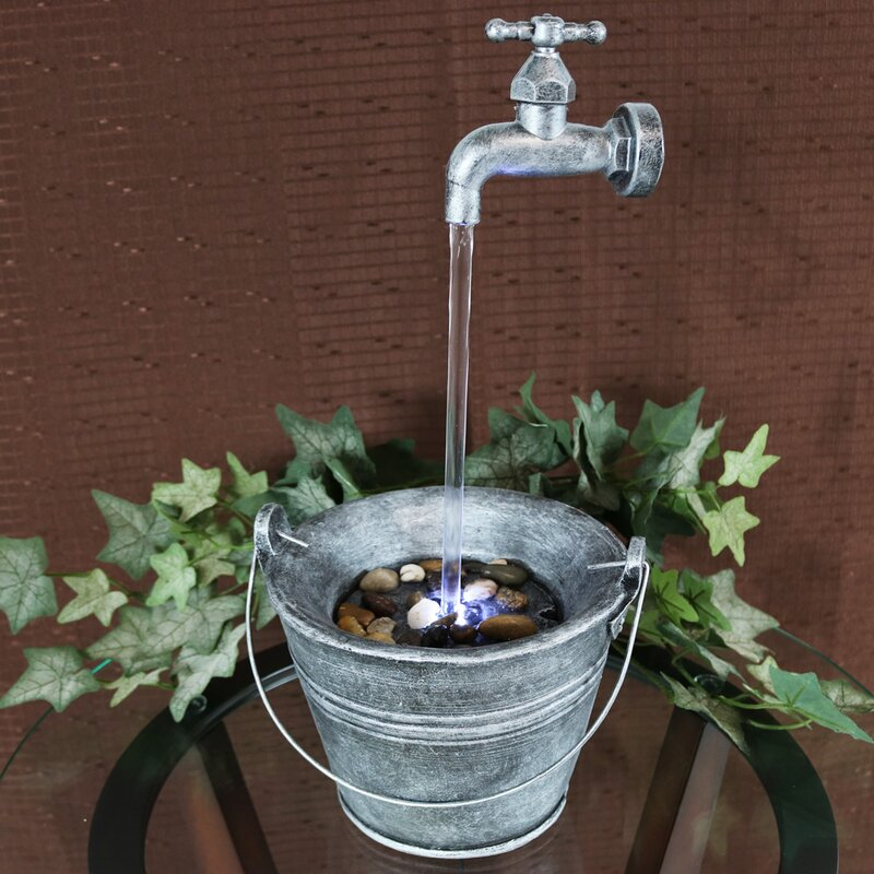 Beau Floating Faucet Indoor Tabletop Water Fountain With Light