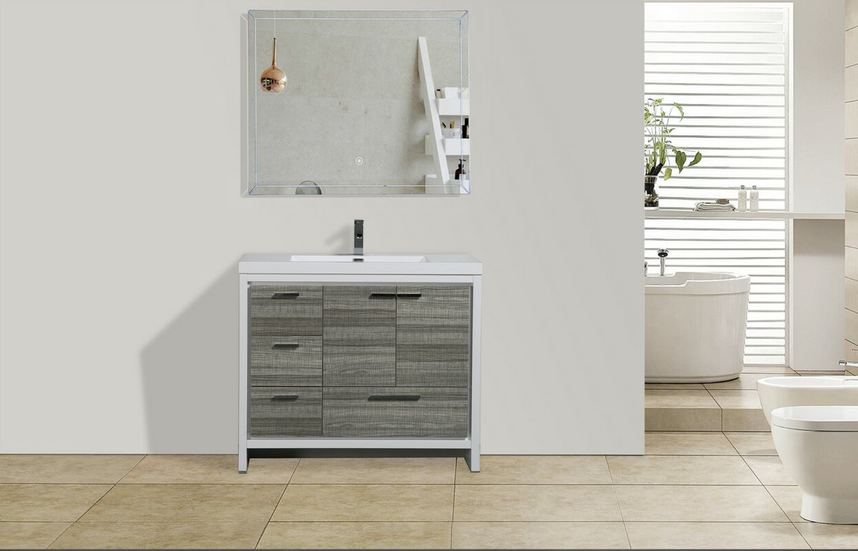 modern single bathroom vanity. Melillo 41\ Modern Single Bathroom Vanity T