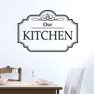 Classic Our Kitchen Sign Wall Sticker By Happy Larry
