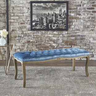 Samaira Velvet Upholstered Bench by Ophelia & Co.