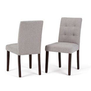 Simpli Home Andover Upholstered Dining Chair (Set of 2)