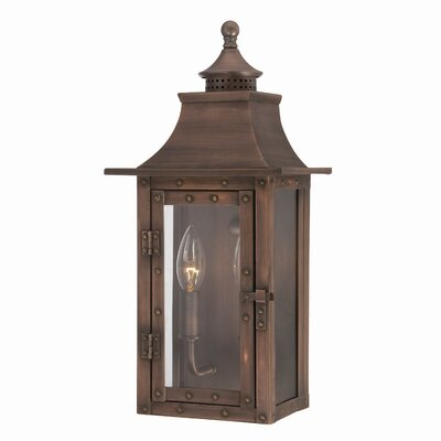 17 Stories Dillion 2 Light Outdoor Wall Lantern Finish Copper Patina