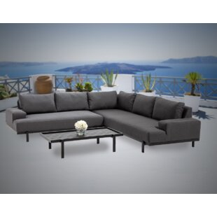 Maliah 3 Piece Sunbrella Sectional Seating Group with Sunbrella Cushions