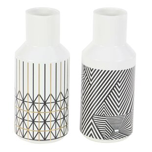 Renken Geometric-Inspired Bud 2 Piece Table Vase Set