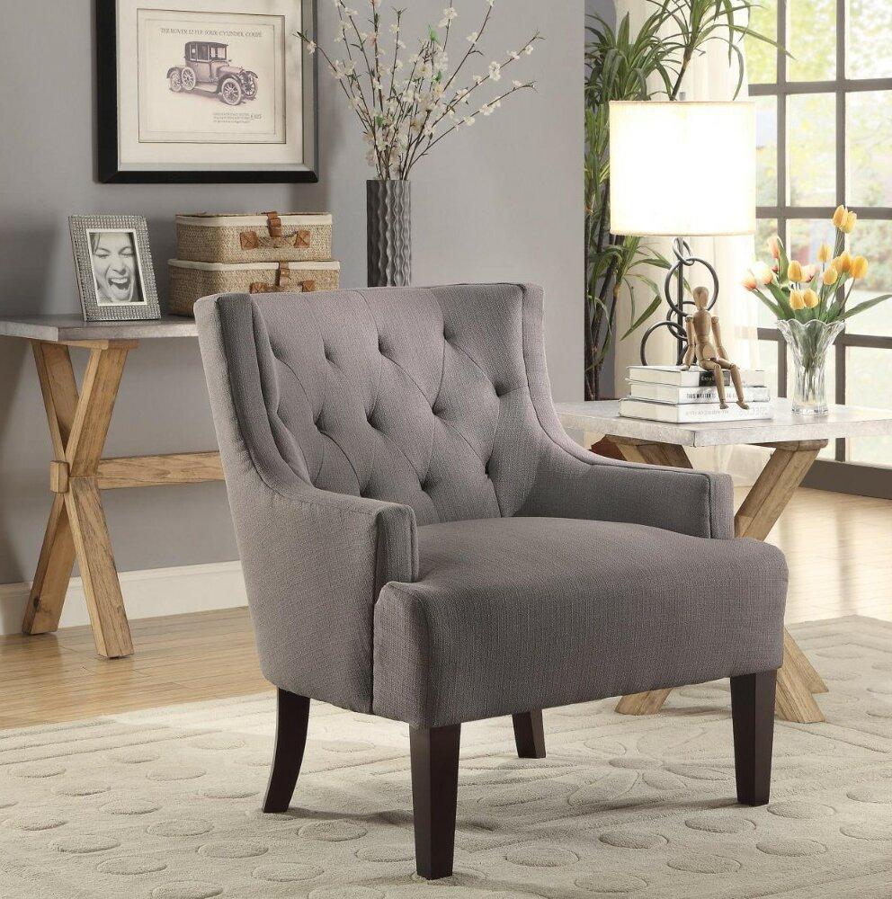 Alcott Hill Leeman Fabric Upholstered Wingback Chair | Wayfair