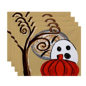Flipping for Fall Ooky Spooky Print Placemat (Set of 4)