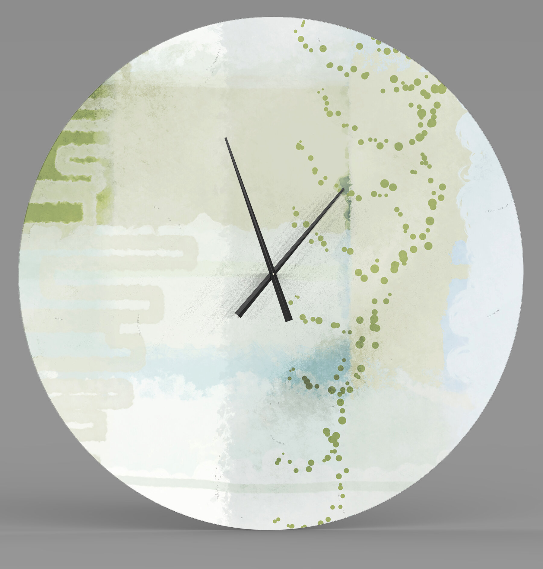 Latitude Run Well Meaning Widely Used Abstract Metal Wall Clock Wayfair Ca