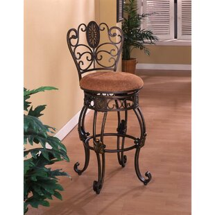 Couey 46 Swivel Bar Stool (Set of 2) Fleur De Lis Living