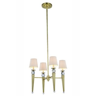 Brayden Studio Bucholz Traditional 4-Light Shaded Chandelier