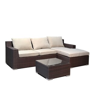 Hegg 3 Piece Sofa Set with Cushions