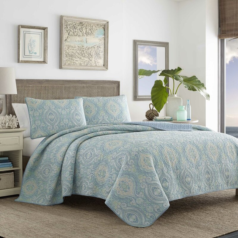 Turtle Cove Reversible Quilt Set By Tommy Bahama Bedding