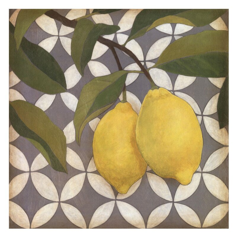 Fruit and Pattern I by Megan Meagher Graphic Artwork - Green Wall decor