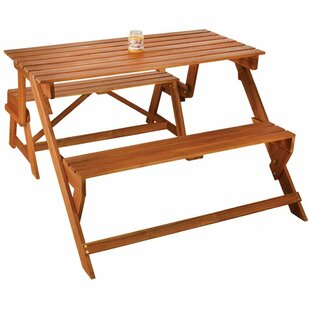 Burrell Folding Wooden Picnic Bench Image