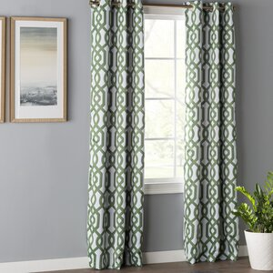 Morton Geometric Blackout Grommet Curtain Panels (Set of 2)