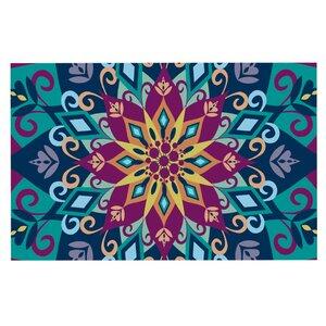 Amanda Lane 'Blooming Mandala' Doormat