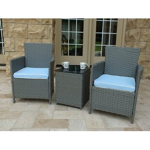 Brook 3 Piece Set with Cushions by Andover Mills