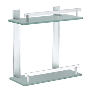 dvina 3 level aluminium and glass corner shelf - Glass Corner Shelves