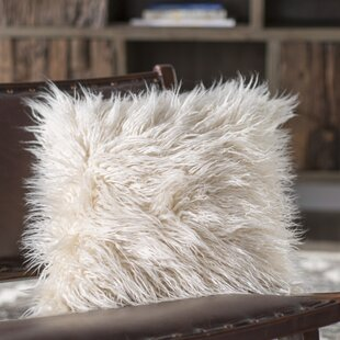 Faux Fur Pillow And Throw Set.Faux Fur Throw Pillow