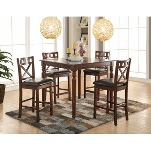 Albiero 5 Piece Dining Set Bloomsbury Market
