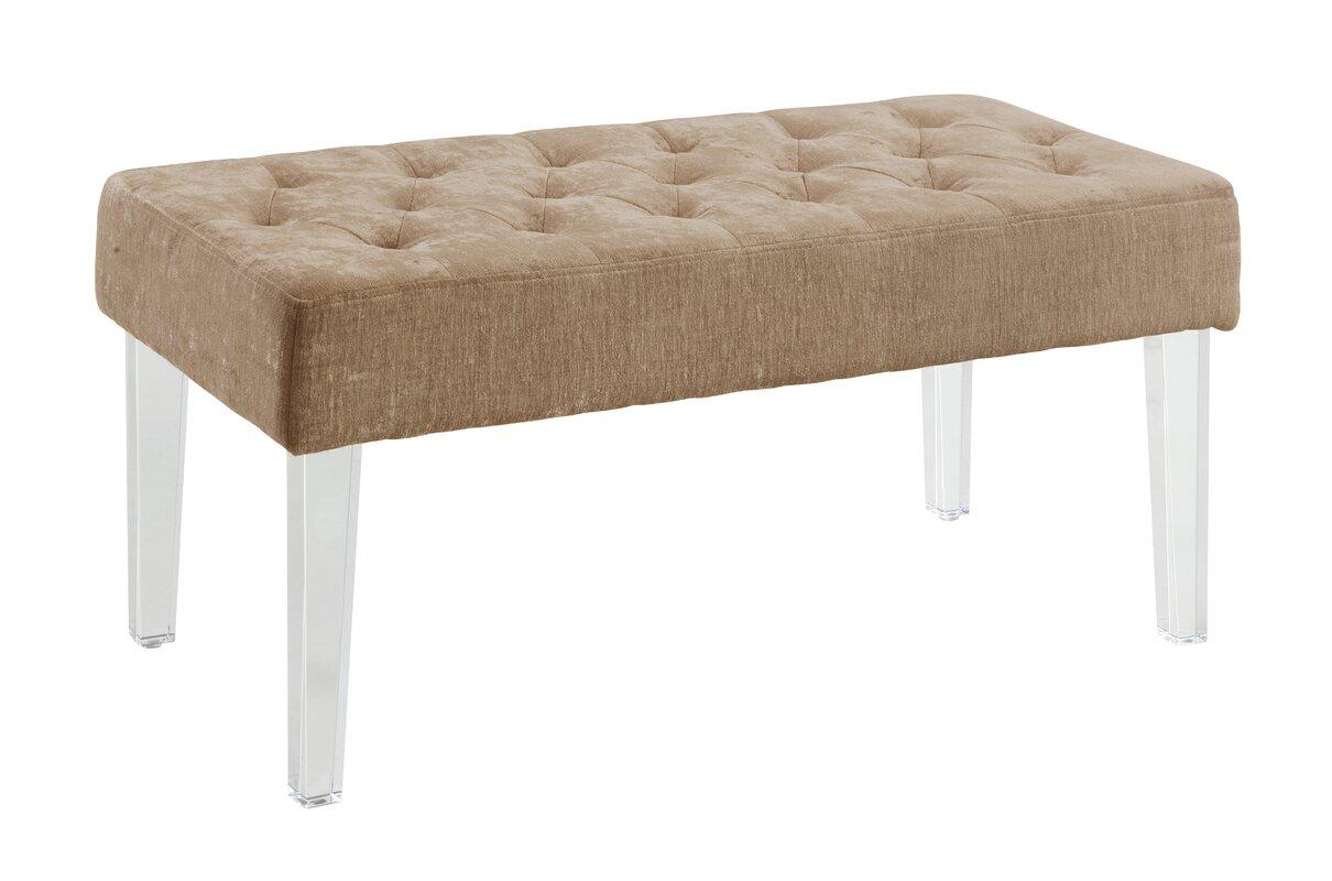 varick gallery bronson upholstered bedroom bench  reviews  wayfair - defaultname