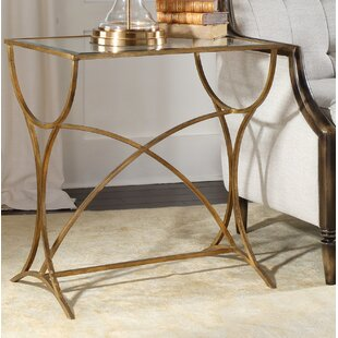 Davon Antiqued End Table by Rosdorf Park