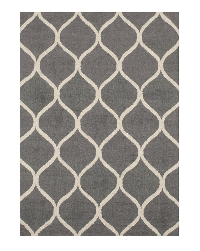 eastern rugs moroccan wool traditional trellis hand-tufted gray
