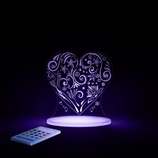 Best Price Aloka Starlights LED Love Heart Night Light with Remote Control By Lumenico
