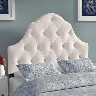 Comparison Redfield Upholstered Panel Headboard by Three Posts