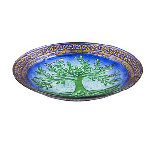 Evergreen Flag & Garden Tree of Life Birdbath