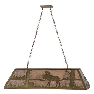Moose at Lake 9-Light Pool Table Lights Pendant by Meyda Tiffany