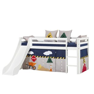 Basic Construction Mid Sleeper Bed With Curtain By Hoppekids