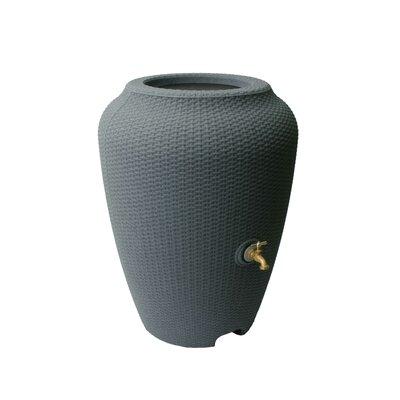 Wicker 50 Gallon Rain Barrel Algreen Color: Charcoal