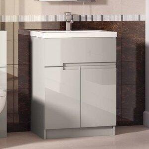 Ultra 61 cm Wandmontierter Waschtisch mit Schrank