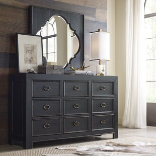 Everly Quinn Aahil 6 Drawer Dresser with Mirror