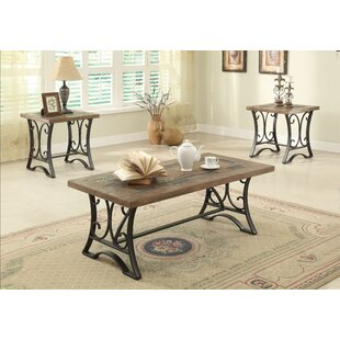 Loyce 3 Piece Coffee Table Set by Fleur De Lis Living