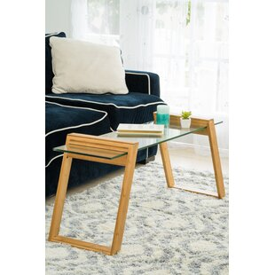 Chalfant Glass and Bamboo Coffee Table by..