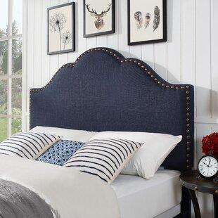 Alcott Hill Benedict Camelback Upholstered Panel Headboard